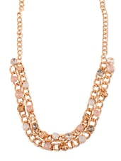 Stunning Chain Necklace In Gold With Colourful Stones - Addons