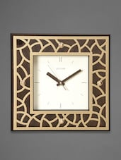 Brown Cutwork Retro Art Deco Wall Clock - Rhythm