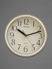 Silver Round Framed Retro Wall Clock - Rhythm