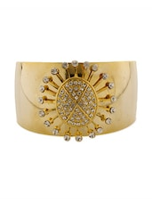 Stone Embellished Cuff Bracelet - Voylla