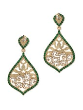 Gold Plated Dangler Earrings - Voylla