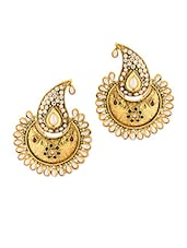 Exotic Pair Of Earrings With Pearls - Voylla