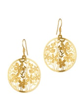 Round Shaped Dangler Earrings With Floral Jali Work - Voylla
