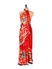Graceful Red Printed Art Silk Saree - Saraswati