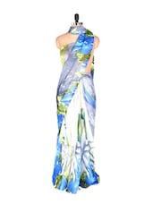 Elegant Pastel Shade Printed Art Silk Saree With Matching Blouse Piece - Saraswati