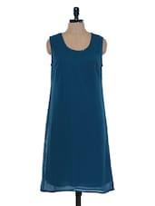 Prussian Blue Sleeveless Dress - Mind The Gap