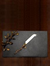 Granite Cheese Platter With Knife - The Yellow Door