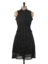 Black And White Printed Dress - Nineteen