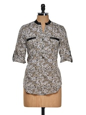 Leopard Print Polyester Top - Purys