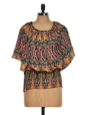 Tribal Poncho Style Top - Purys