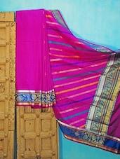Purple Benarsi Silk Saree - KAASI