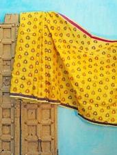 Yellow Benarsi Net Saree - KAASI