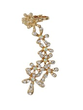 Gold Embellished Cuff Earring - Xpressionss