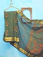 Green And Golden Benarsi Net Saree - KAASI