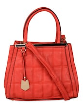 Red Quilted Tote Bag - K22