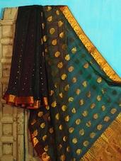 Green And Maroon Benarasi Cotton Saree - BANARASI STYLE