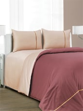 Set Of 1 Double Super King Size Bed Sheet, 2 Pillow Cover  And 1 Duvet Cover - Spread
