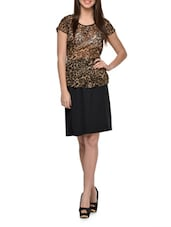 Animal Print Top And Skirt Set - QUEST