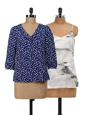 Hearts And Marble Print Top Set - @ 499