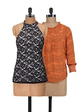 Set Of Lace & Printed Tops - @ 499