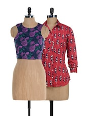 Birds And Flowers Top Sets - @ 499