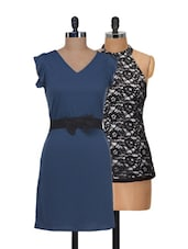 Lace And Frills Dress And Top Set - @ 499