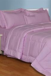 Mauve  Plain King Size Bedsheet With 2 Pillow Covers - Salona Bichona