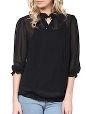 Solid Black Top With Inner - L'elegantae