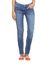 Blue Straight-Fit Jeans - L'elegantae