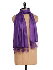 Purple Pashmina Stole - Awesome