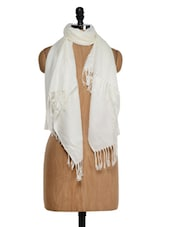 White Pashmina Stole - Awesome