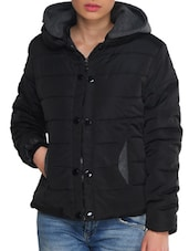 Black And Grey Hooded Jacket - TREND SHOP