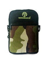 Army Print Leatherette Sling Bag - By
