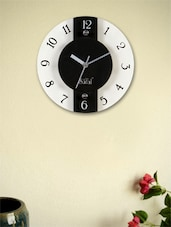 Black And White Circular Wall Clock - Safal