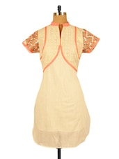 Off-white Kurta With Embroidered Sleeves - RiniSeal