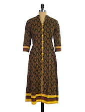 Black And Maroon Printed Kurti - Pothys