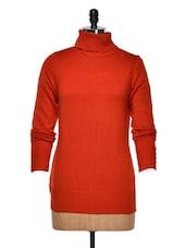 Scarlet Turtle-Neck Sweater - Yepme
