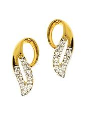 Gold Plated Leaf Earrings - Estelle