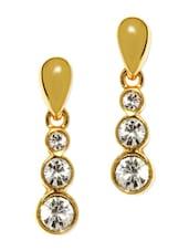 Gold Plated Drop Earrings - Estelle