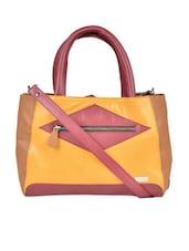 Multi-coloured Tote Bag Cum Sling Bag - YELLOE