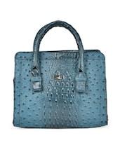 Blue Animal Print Handbag - YELLOE