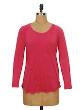 Solid Pink Full-sleeved Top - Ozel Studio