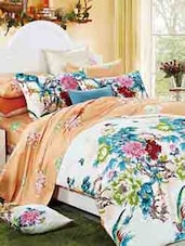 Multi-coloured Floral Double Bedsheet With Pillow Cover - Bianca