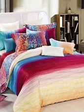 Multi-coloured Double Bedsheet With Pillow Cover - Bianca - 937050
