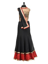 Black And Red Lehenga - Istyledeals