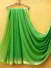 Fine Green Chiffon Saree - ZAHARA
