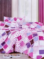 Multi-coloured Double Bedsheet With Two Pillow Cover -  Frábær - 937604
