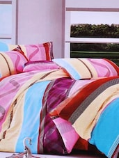 Multi-coloured Double Bedsheet With Two Pillow Cover -  Frábær - 937606