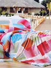 Multi-coloured Double Bedsheet With Two Pillow Cover -  Frábær - 937614