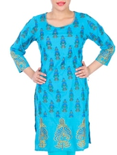Bright Blue Printed Kurta - Anubha